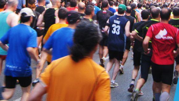 Imatge dels participants de la Mitja Marató / Font: Mitjasantcugat.cat