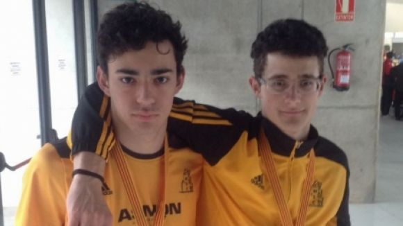El Muntanyenc obté tres ors al Campionat de Catalunya juvenil en pista coberta