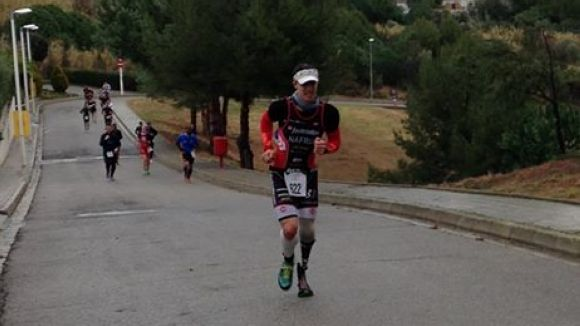 Dani Nafria en plena cursa