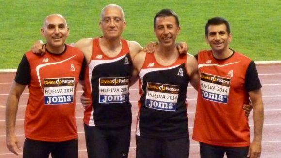 Quatre medalles per al Muntanyenc al Campionat d'Espanya de Veterans