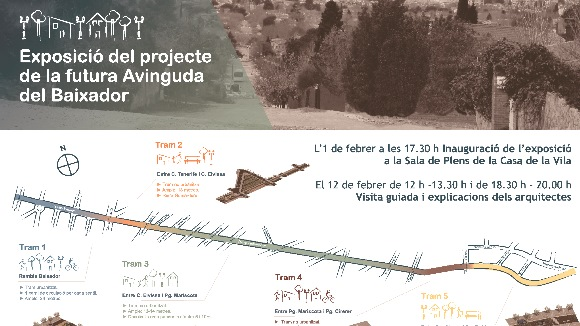 Exposició: Presentació de l'avantprojecte de l'avinguda del Baixador