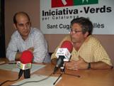 El fins ara president, Xavier Boix, acompanyat per Joan Balada