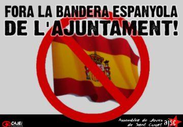 L'Assemblea de Joves demana a l'alcalde que 'reflexioni' i retiri la bandera espanyola de l'ajuntament