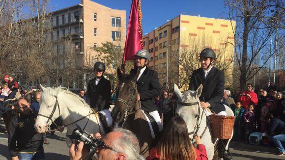 Imatge de la rua de l'any passat, amb l'Ateneu com a Banderer
