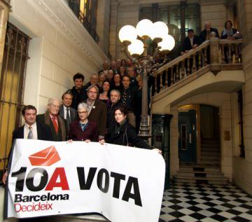 Suport santcugatenc a la consulta sobre la independència de Barcelona