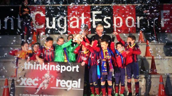 El FC Barcelona guanya dues de les tres categories del 1r Torneig Vicente Ferrer