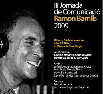 Les Jornades de Comunicació Ramon Barnils celebren la segona edició al setembre