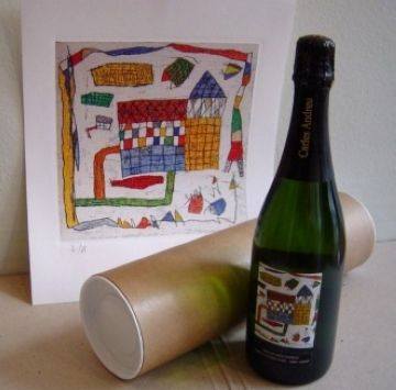 El cava i la pintura, la combinació que proposa la Canals Galeria d'Art com a obsequi nadalenc
