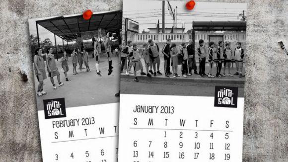 El CB Mira-sol posa a la la venda el calendari de 2013 amb els seus equips