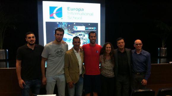 Passat i present del Joventut de Badalona en el Campus de Bàsquet de l'Europa International School