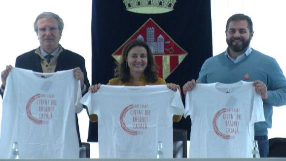 Joan Fa, Mercè Conesa i Eloi Rovira, durant la presentació