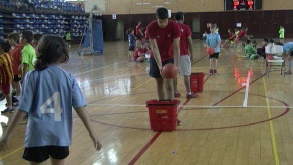 El circuit d'habilitats ha estat una de les estacions de la Diada del Bàsquet