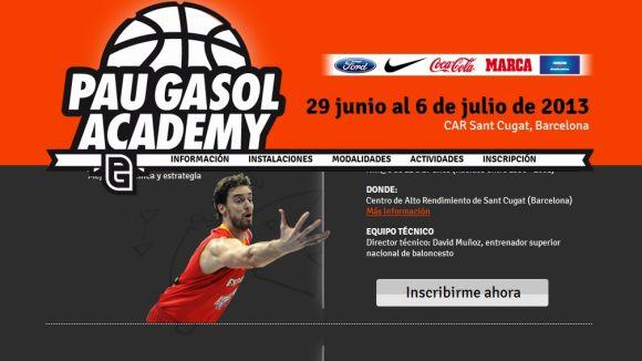 L'acadèmia de bàsquet de Pau Gasol aterra al CAR Sant Cugat