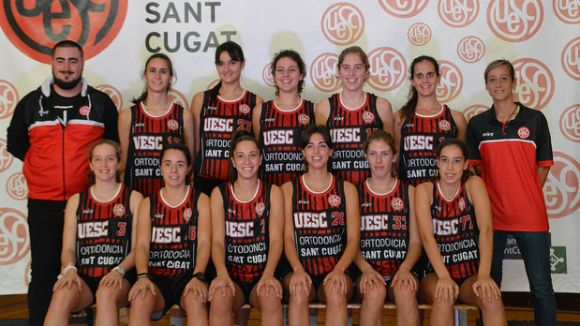 La UESC femenina ha perdut a la pista del Lluïsos de Gràcia / Font: UESC