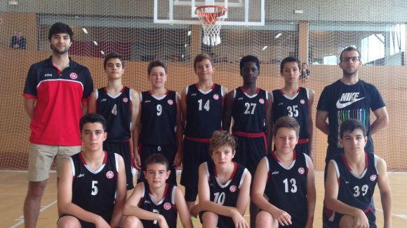 L'equip preinfantil de la UESC, subcampió de Catalunya territorial de bàsquet