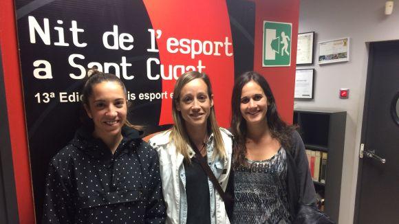D'esquerra a dreta, Cris Costa, Marta Rosanas i Laia Costa al programa Esport en Marxa