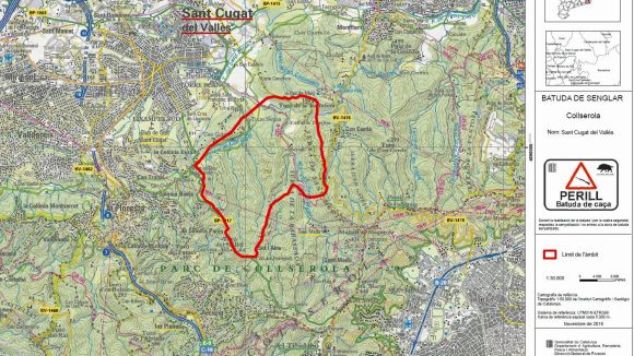 Tancats els camins del Parc Natural de Collserola aquest dissabte per una batuda de senglars