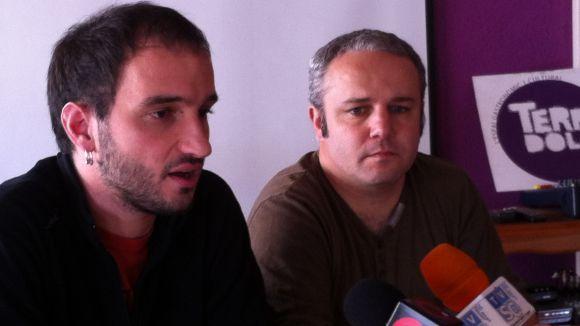 Els regidors de la CUP, Ignasi Bea i Guim Pros