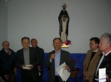 La capella de Sant Domènec beneeix la imatge del seu sant