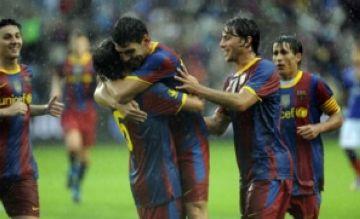 Benja celebra el seu primer gol amb el primer equip blaugrana. (www.sport.es)