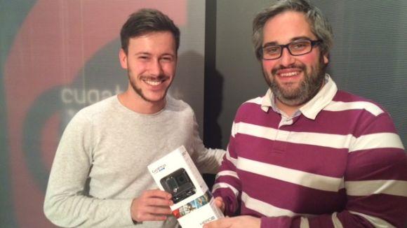 Cugat.cat entrega una GoPro al guanyador del concurs de 'selfies' de Nadal, Bernat Bosch