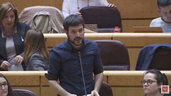 Criden a l'ordre el senador Bernat Picornell per citar versos de la cançó 'El rei Borbó' del raper Valtònyc