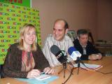 La diputada Bet Font avui amb Xavier Boix i Joan Balada.