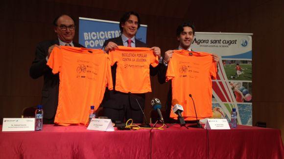 La 20a Bicicletada Popular de l'Àgora recapta fons per la lluita contra la leucèmia