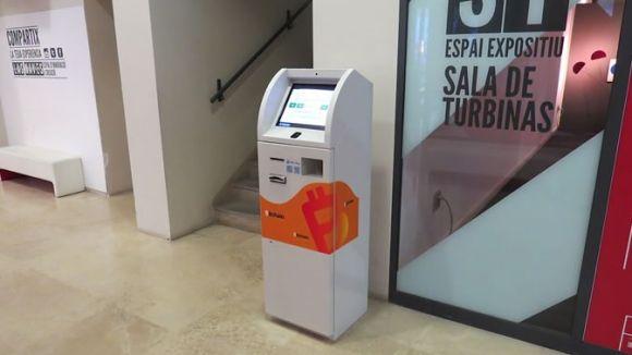Imatge d'un dels caixers de 'bitcoins' que es van instal·lar / Foto: Bitchain