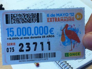 Venut a Sant Cugat un número de l'ONCE premiat amb 40.000 euros