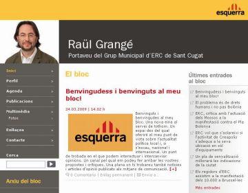 Grangé (ERC) se suma a Recoder, Villaseñor i Boix i obre un blog a internet