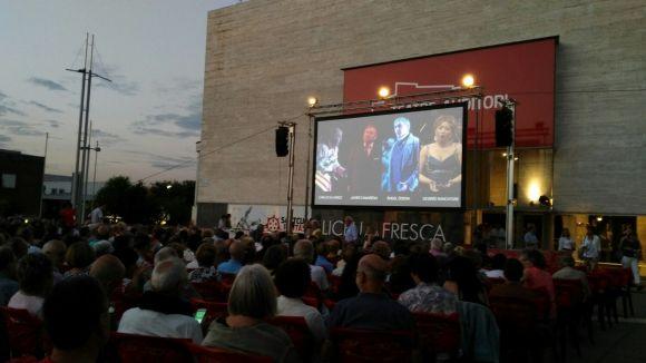 Moment de la projecció / Foto: Teatre-Auditori