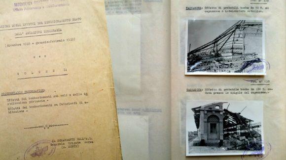 Inauguració d'exposició sobre els bombardejos de l'aviació italiana sobre Catalunya