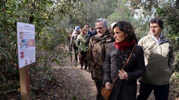 Imatge del recorregut pel Bosc Literari / Foto: Premsa Sant Cugat