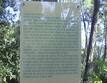 Poesia i música s'apleguen al Bosc Literari de la Serreta per recordar Mercè Rodoreda
