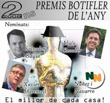 Recoder, Gausa, Martorell i Núñez, candidats al concurs 'Botifler de l'any' de l'AJSC