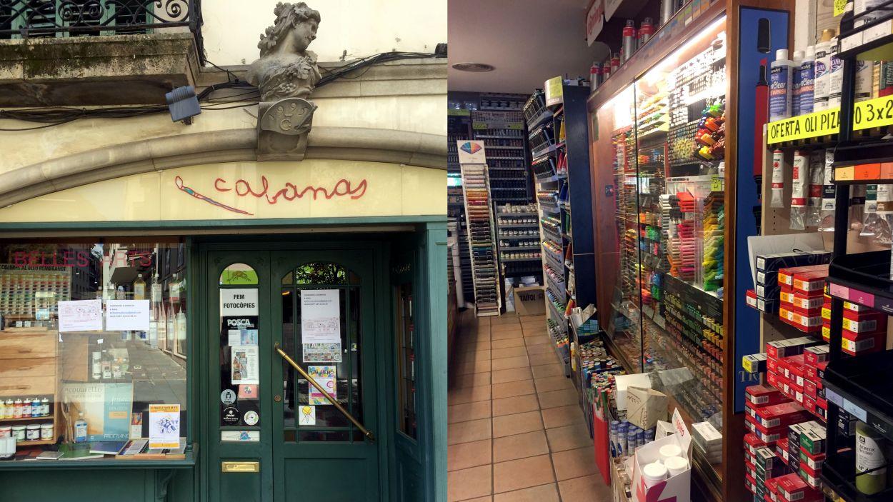 La botiga de belles arts Cabanas és un dels comerços històrics de Sant Cugat / Foto: cedida Belles Arts Cabanas