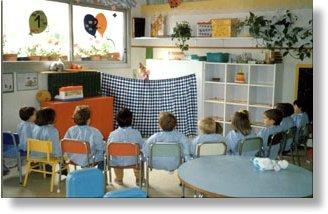 Una aula de l'escola bressol de Valldoreix