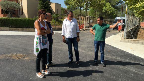El president de l'EMD, Josep Puig, ha visitat aquest matí les obres de millora / Foto: EMD Valldoreix