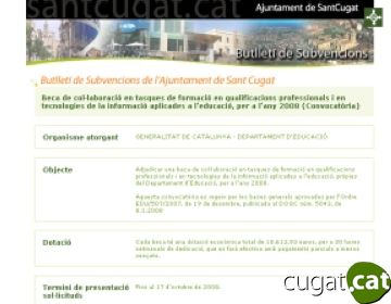 Un nou servei electrònic municipal informa sobre totes les convocatòries de subvencions