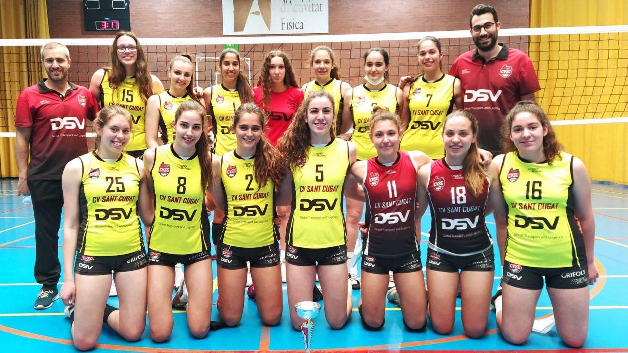 El cadet del DSV- Volei Sant Cugat ,campió de la Lliga Catalana / Foto: Cedida