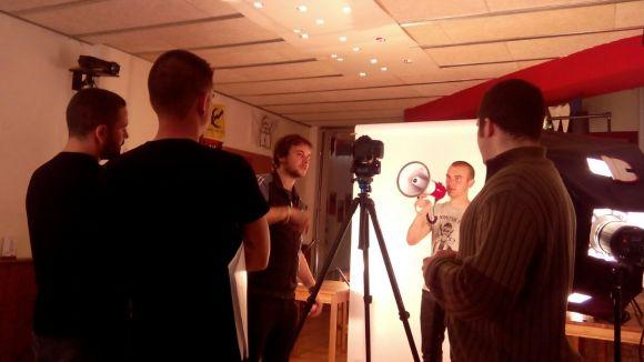 Cal Temerari grava un vídeo promocional per fer difusió del projecte