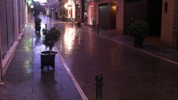 Pluja amb calamarsa a Sant Cugat