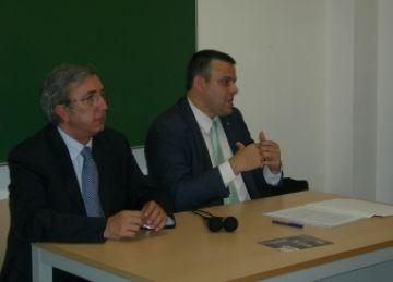 President del PP Sant Cugat, Jordi Carreras, i el diputat del PP al Parlament Pere Calbo