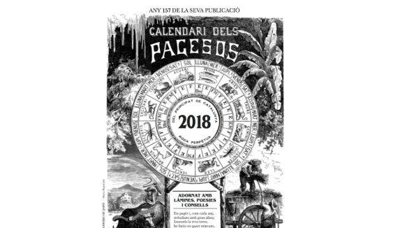 Detall de la portada del calendari d'enguany / Foto: Calendari dels pagesos