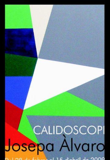 La geometria i els colors vius, protagonistes de 'Calidoscopi', la nova exposició de Josepa Álvaro a Pou d'Art