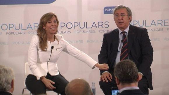 Alícia Sánchez-Camacho i Jordi Carreras en l'acte al STC Hotel Restaurant