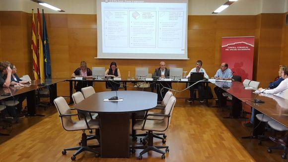 Moment de la reunió al Consell Comarcal / Foto: Diputació de Barcelona