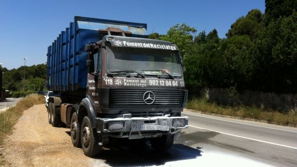 Crema un camió a Can Barata