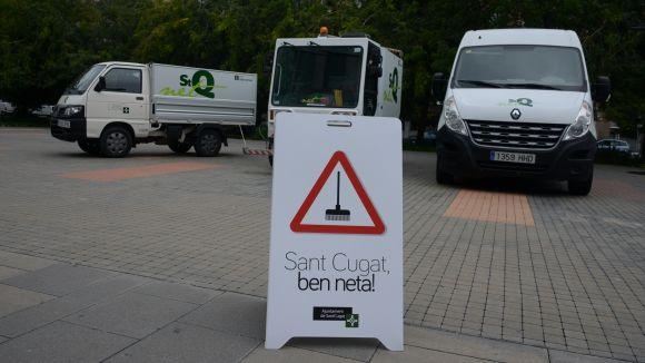 Arrenca la campanya 'Sant Cugat, ben neta!' per fer una neteja a fons dels carrers del centre de la ciutat